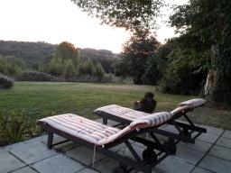 sunrise on the patio